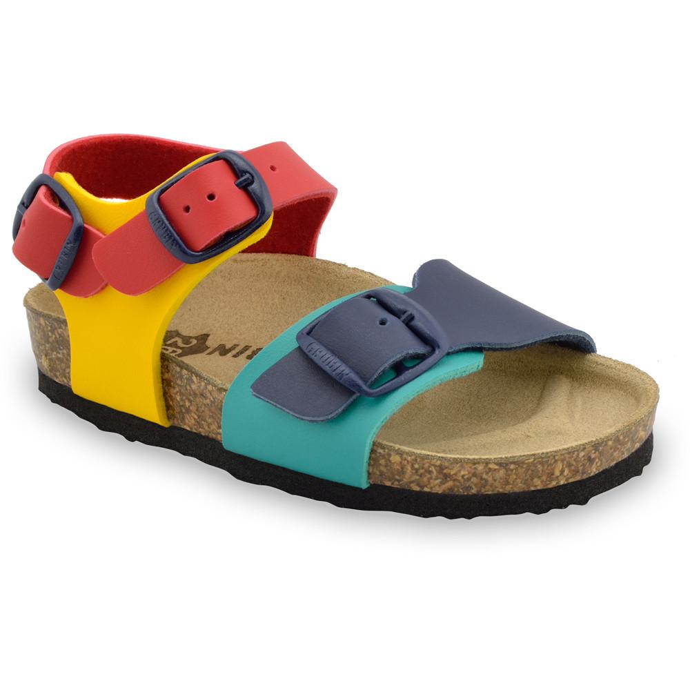 ROBY sandále pre deti - koženka (23-29) - farebná, 23