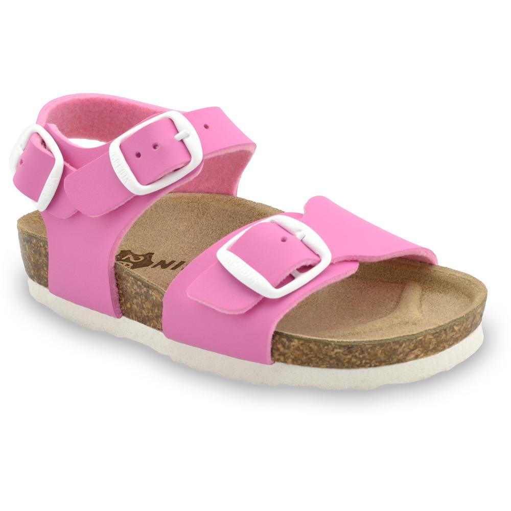 ROBY sandále pre deti - koženka (23-29) - ružová, 26
