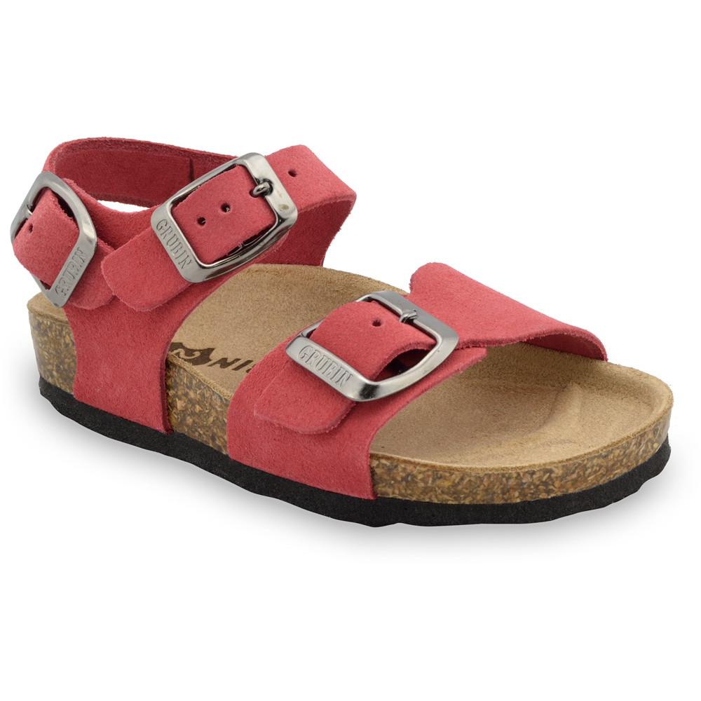 ROBY Kožené detské sandále-velúr (23-29)