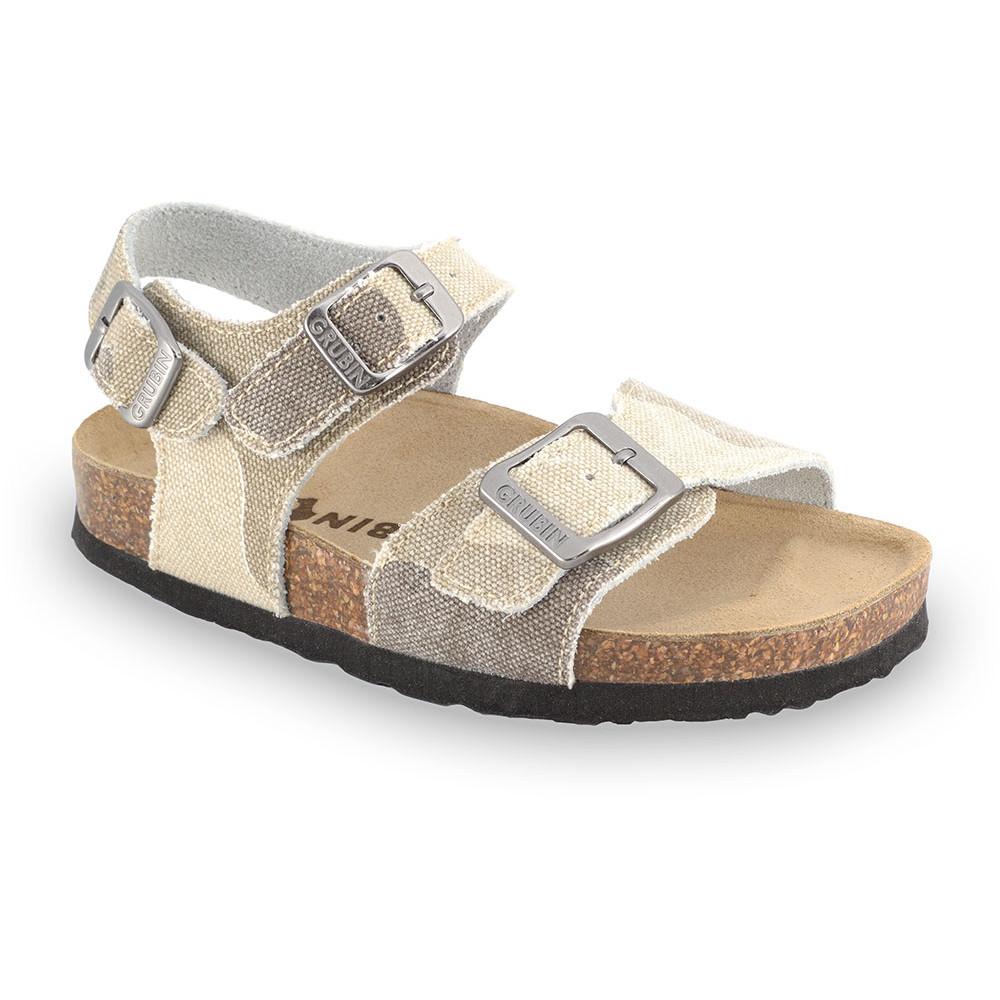ROBY sandále pre deti - tkanina (30-35) - krémová, 35