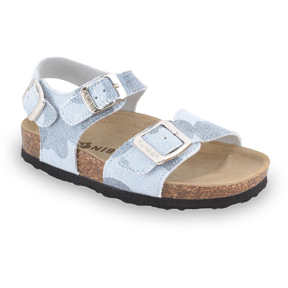 ROBY sandále pre deti - tkanina (30-35) - bledomodrá, 31
