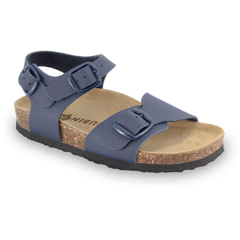 ROBY sandále pre deti - koženka (30-35) - modrá, 34