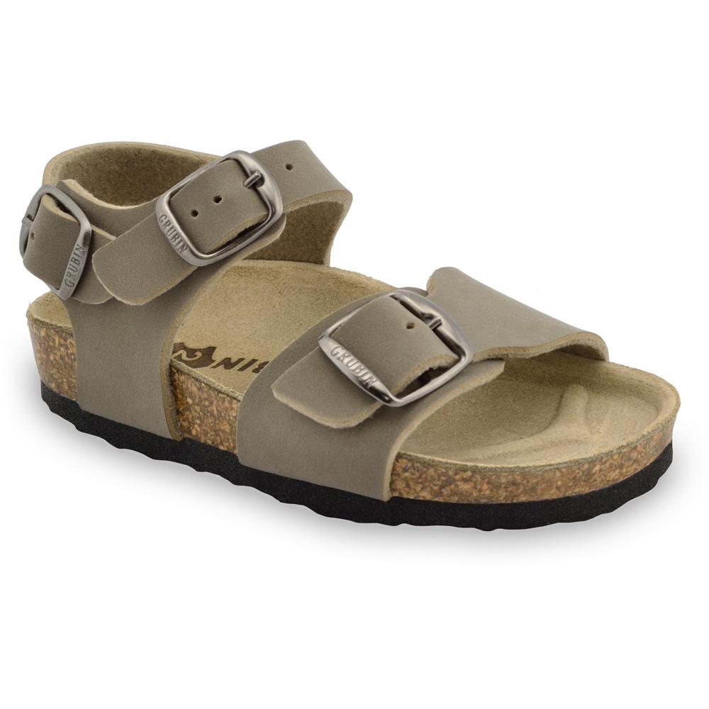 ROBY sandále pre deti - koženka (30-35) - hnedá, 31