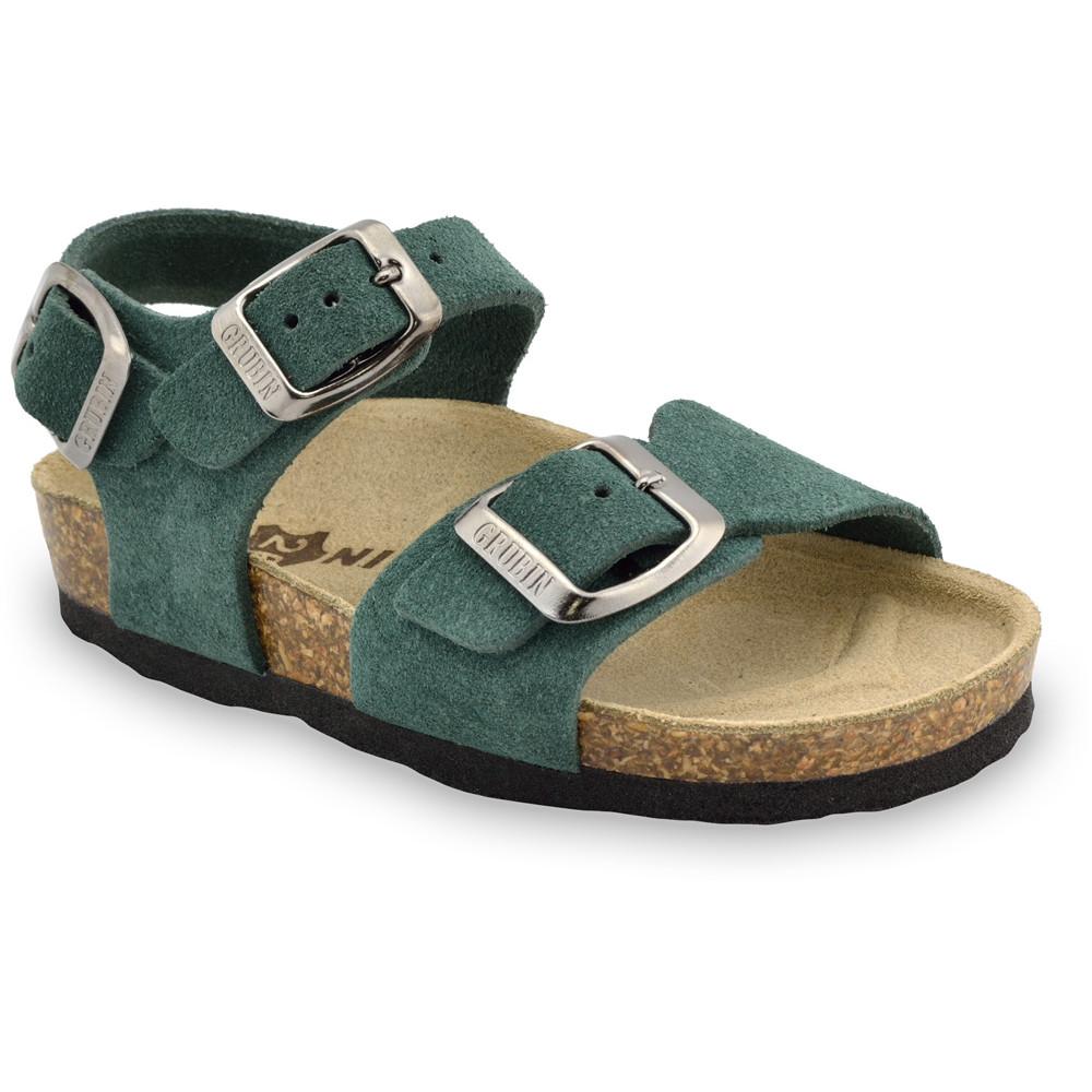 ROBY Kožené detské sandále-velúr (30-35)