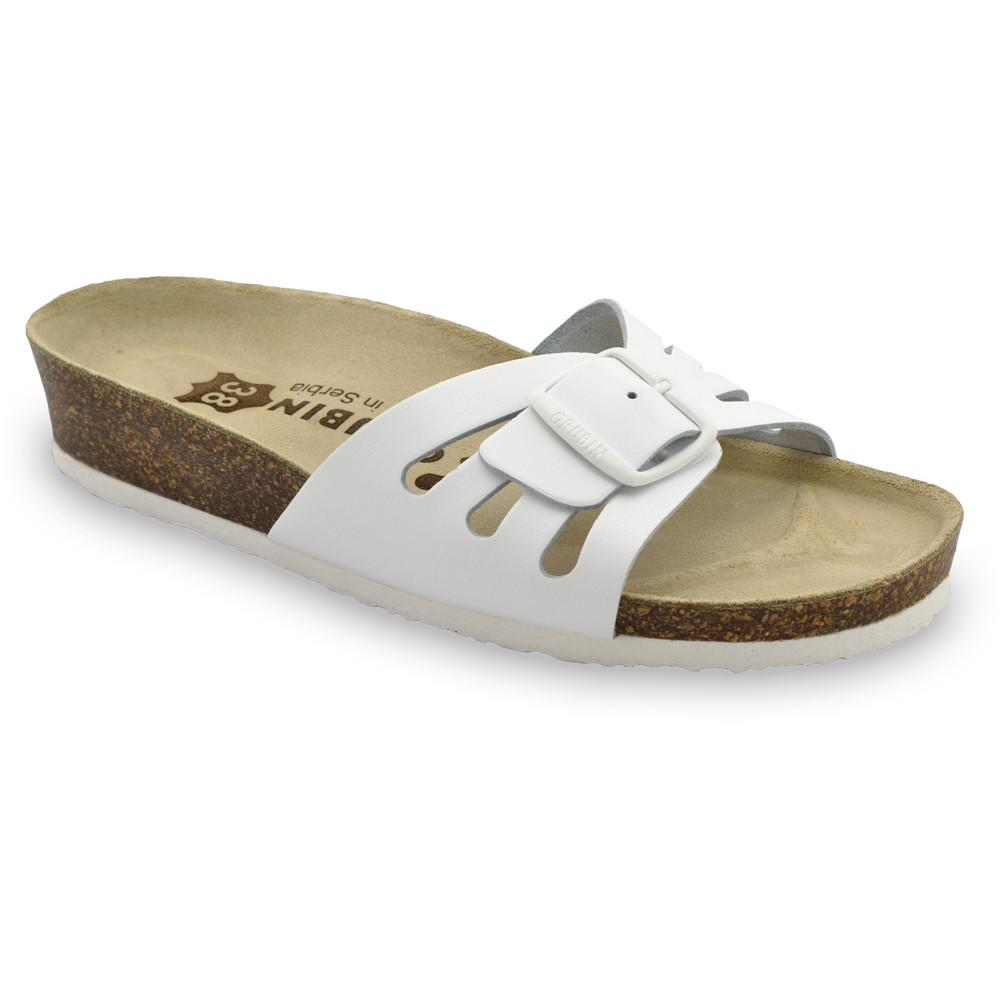 LOLITA Kožené dámske papuče (36-42) - biela, 39