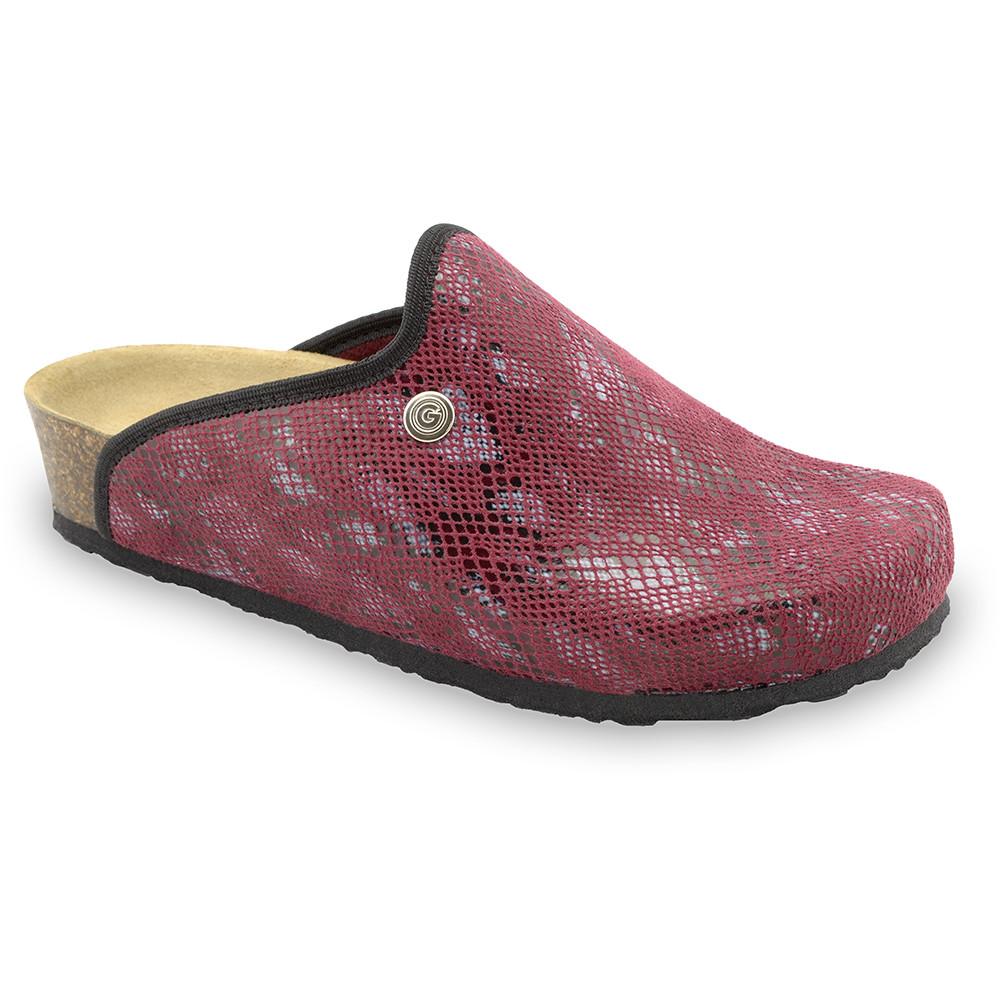 CAKI domáca zimná obuv pre dámy - pliš (36-42) - červená, 36