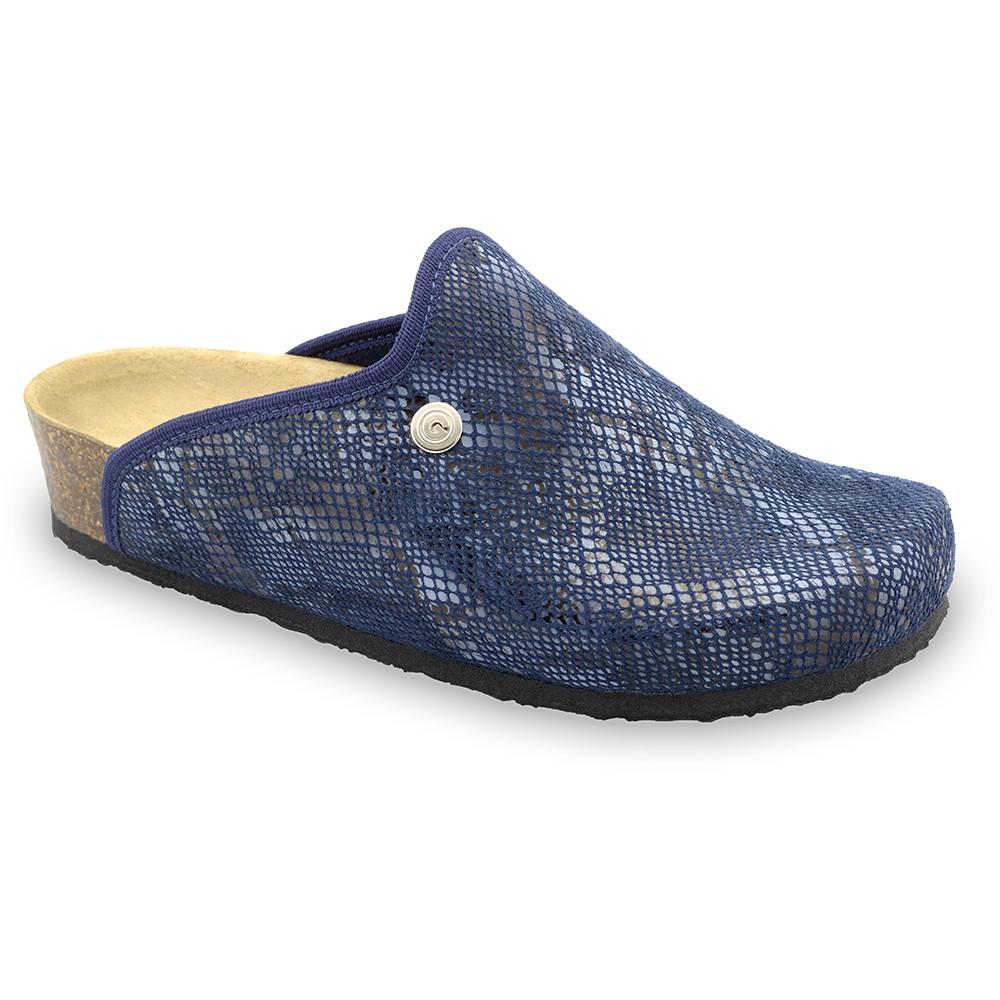 CAKI domáca zimná obuv pre dámy - pliš (36-42) - modrá, 38