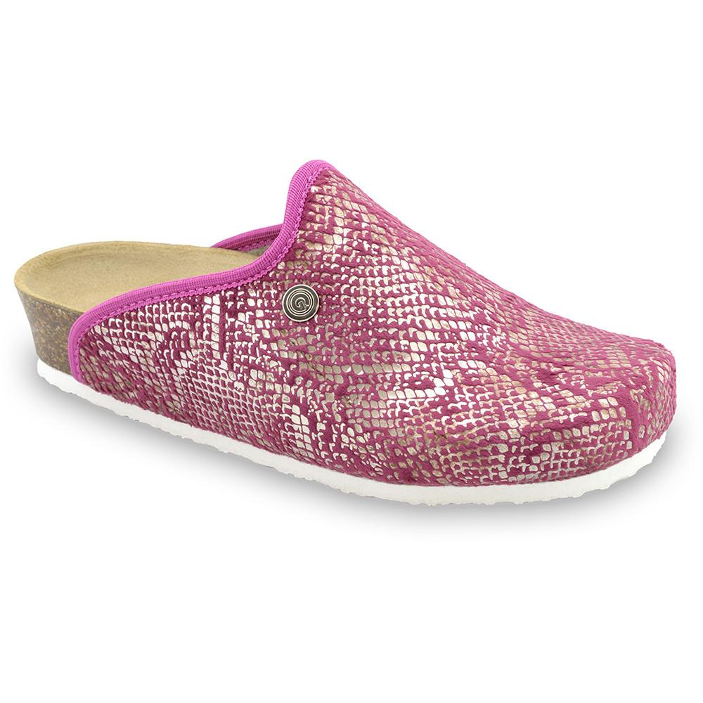 CAKI domáca zimná obuv pre dámy - pliš (36-42) - ružová, 37