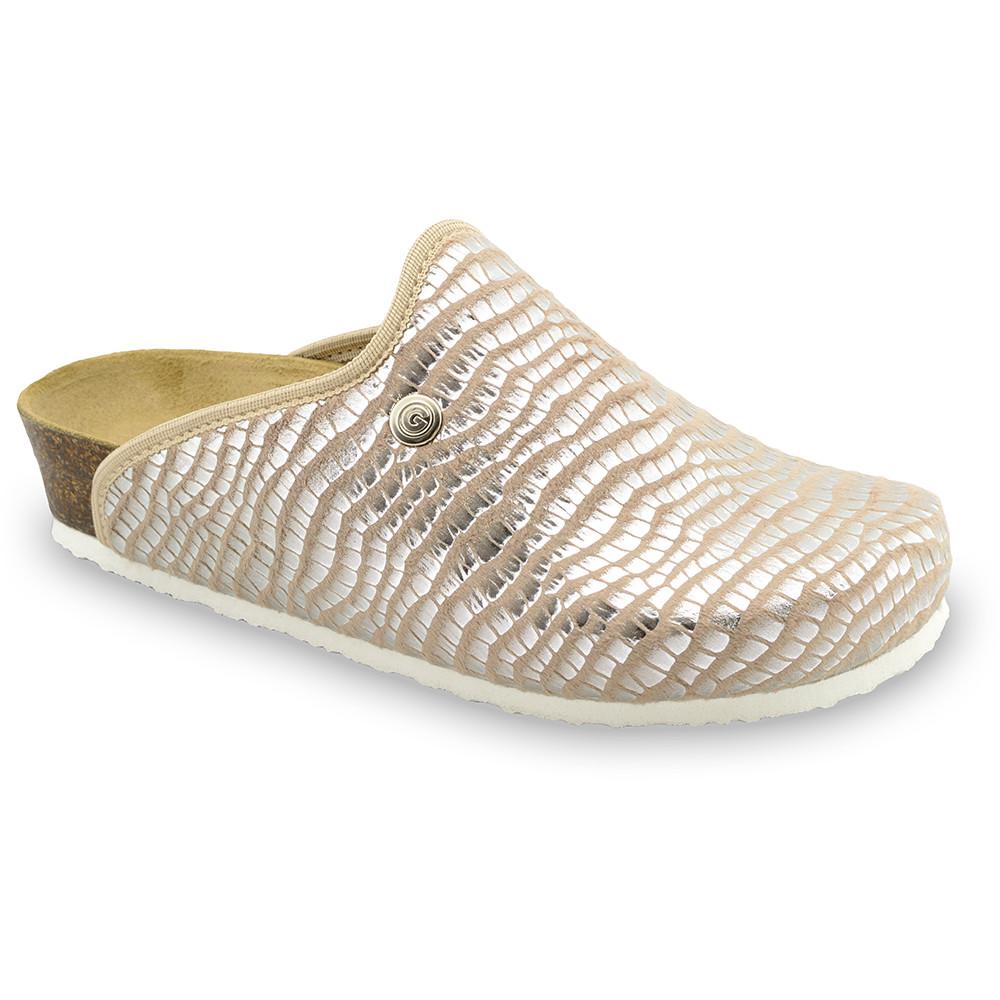 CAKI domáca zimná obuv pre dámy - pliš (36-42) - hnedá zmija, 38