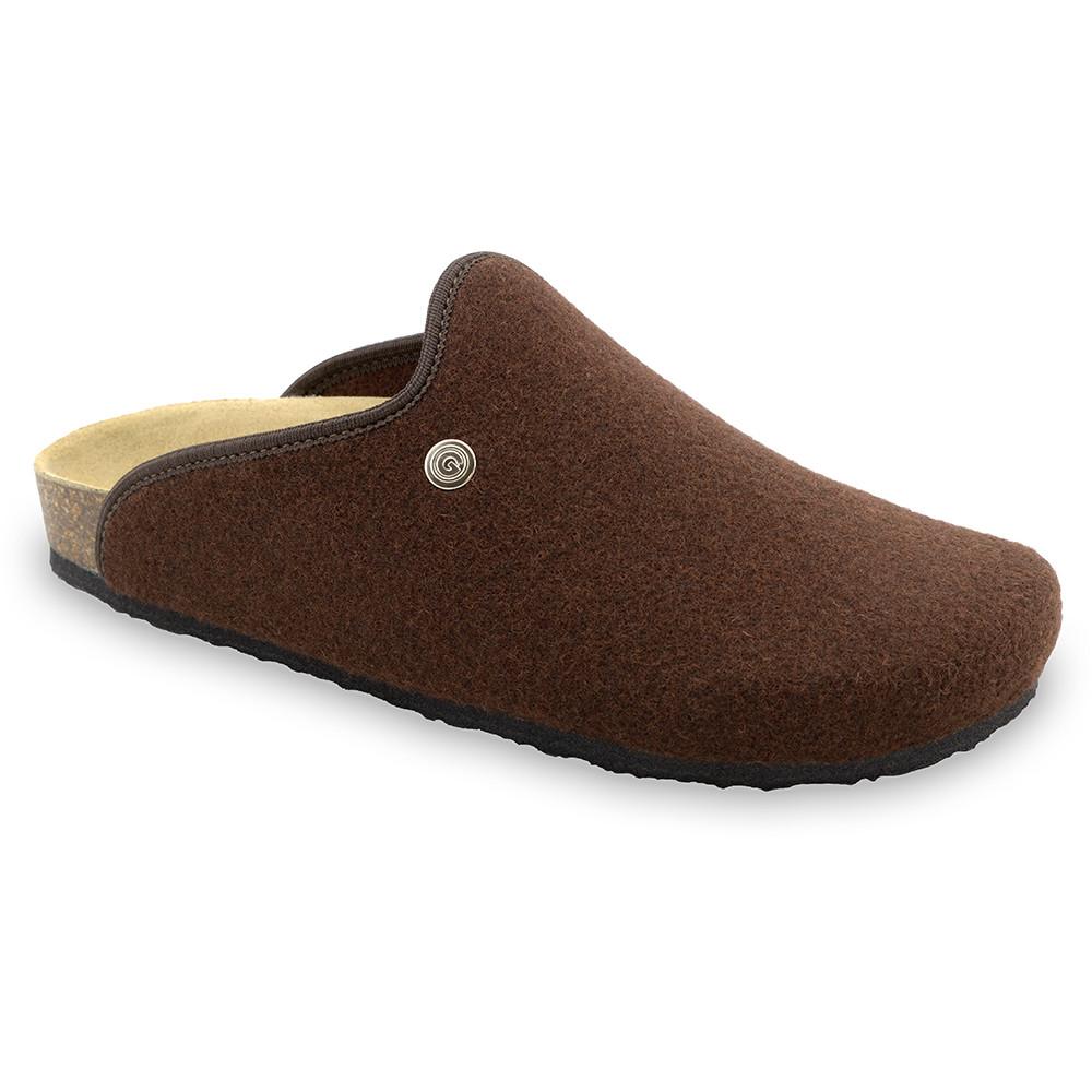 CAKI domáca zimná obuv pre pánov - plsť (40-49) - hnedá, 44