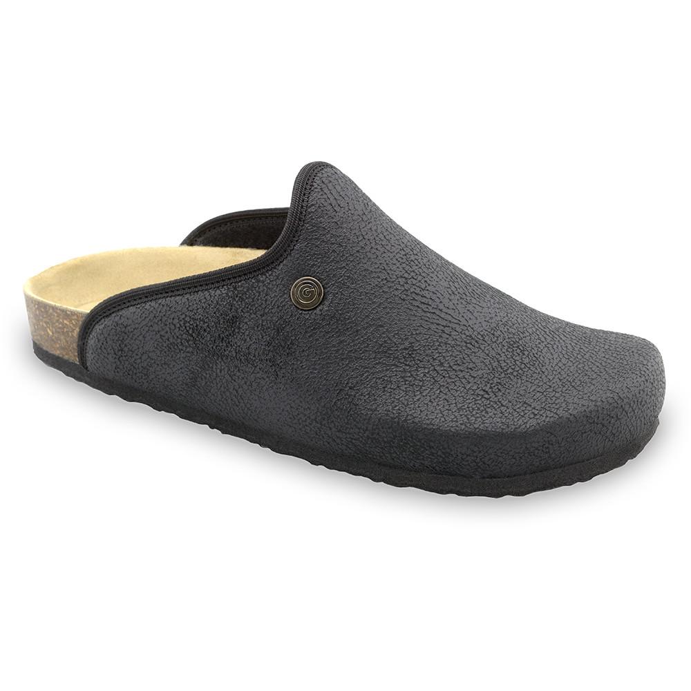 CAKI domáca zimná obuv pre pánov - pliš (40-49) - čierna, 46