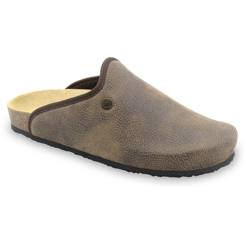 CAKI domáca zimná obuv pre pánov - pliš (40-49) - hnedá, 48