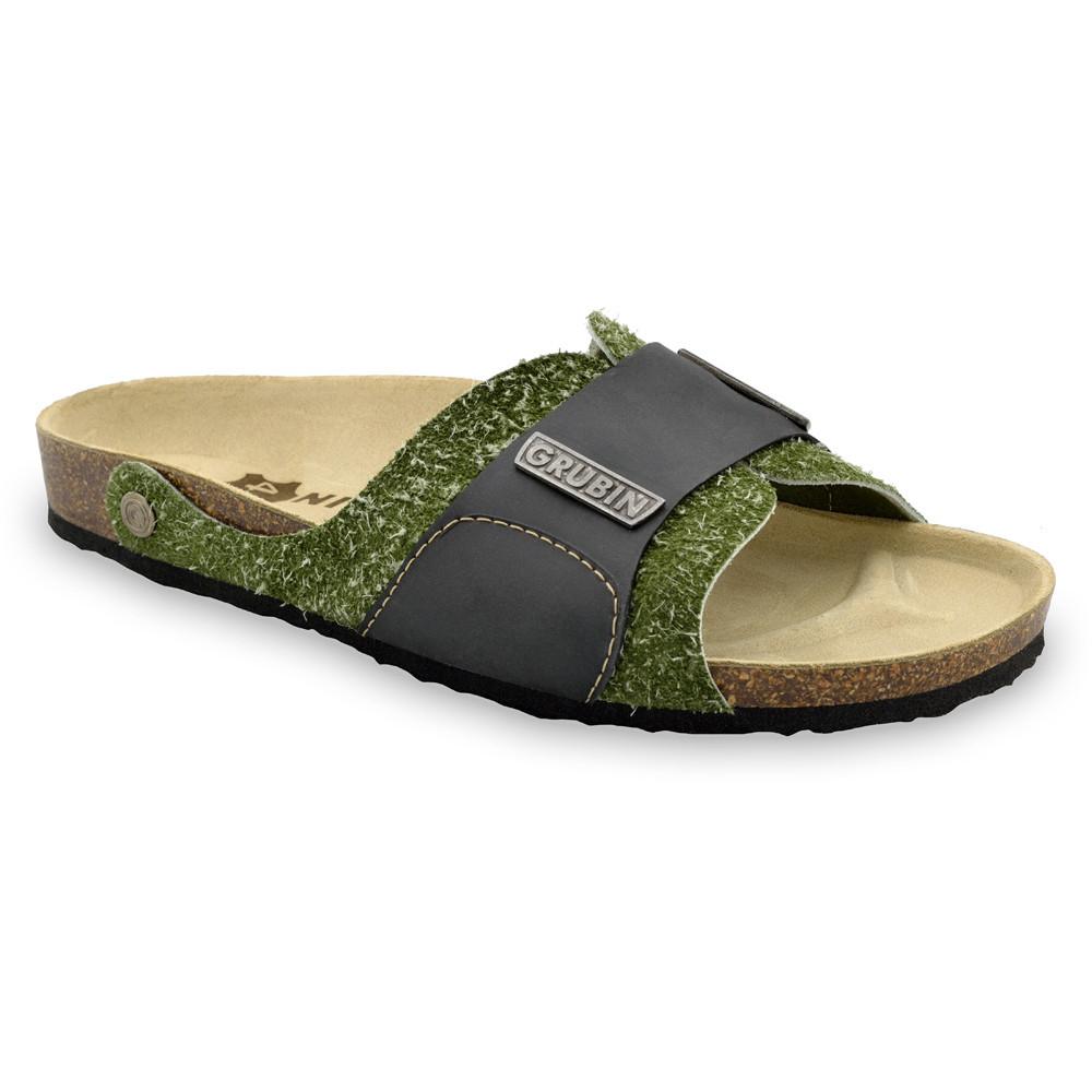 DARKO papuče pre pánov - koža (40-49) - vojenská, 41