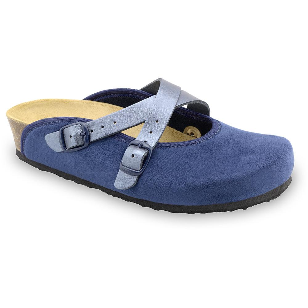 AFRODITA domáca zimná obuv pre dámy - pliš (36-42) - modrá, 36