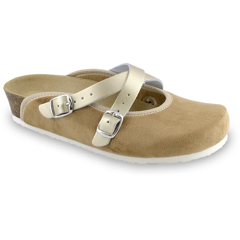 AFRODITA domáca zimná obuv pre dámy - pliš (36-42) - hnedá, 42