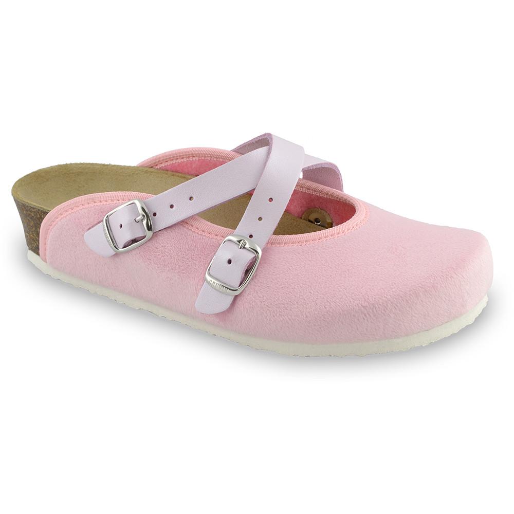 AFRODITA domáca zimná obuv pre dámy - pliš (36-42) - svetloružová, 39