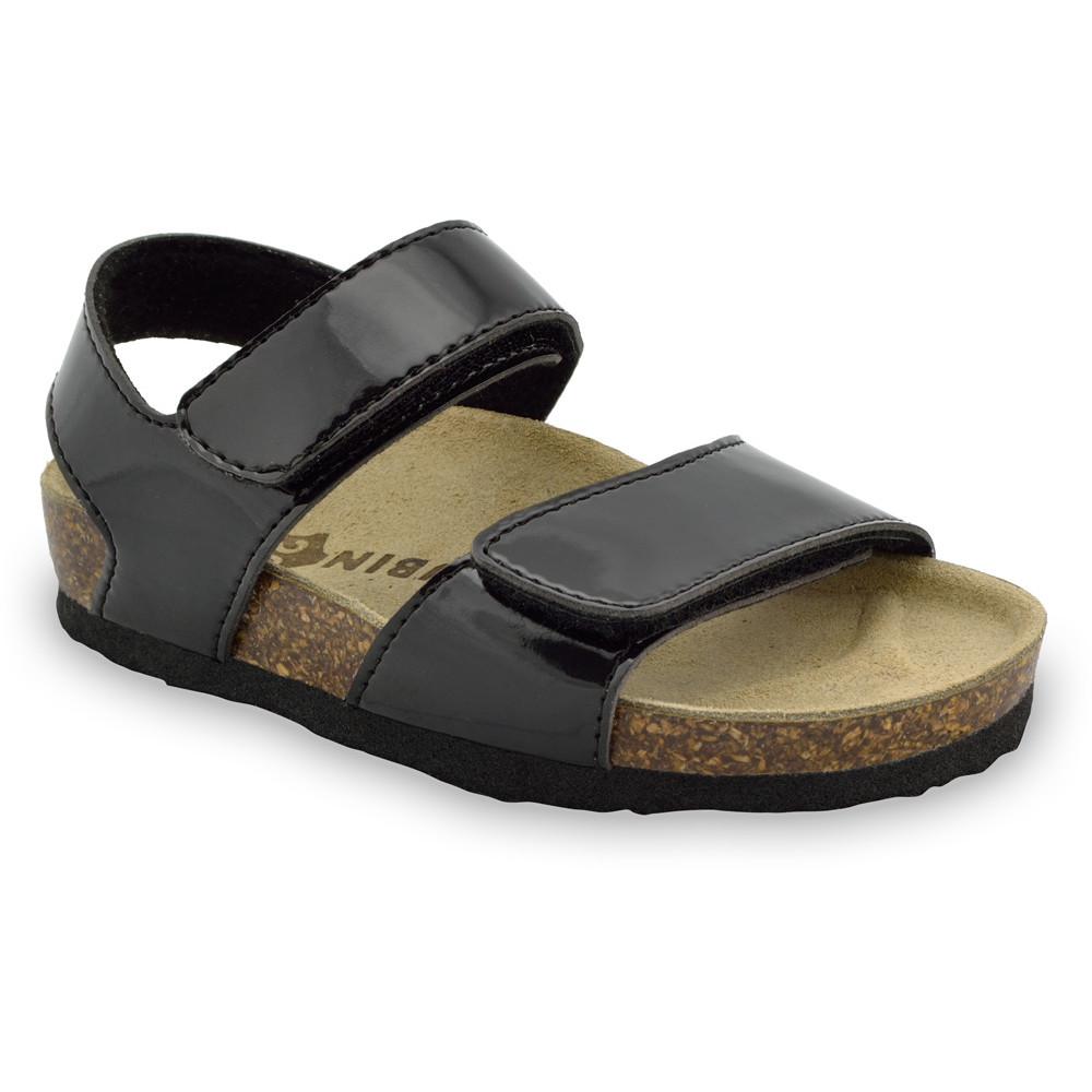 DIONIS sandále pre deti - koženka (23-29) - čierna, 29