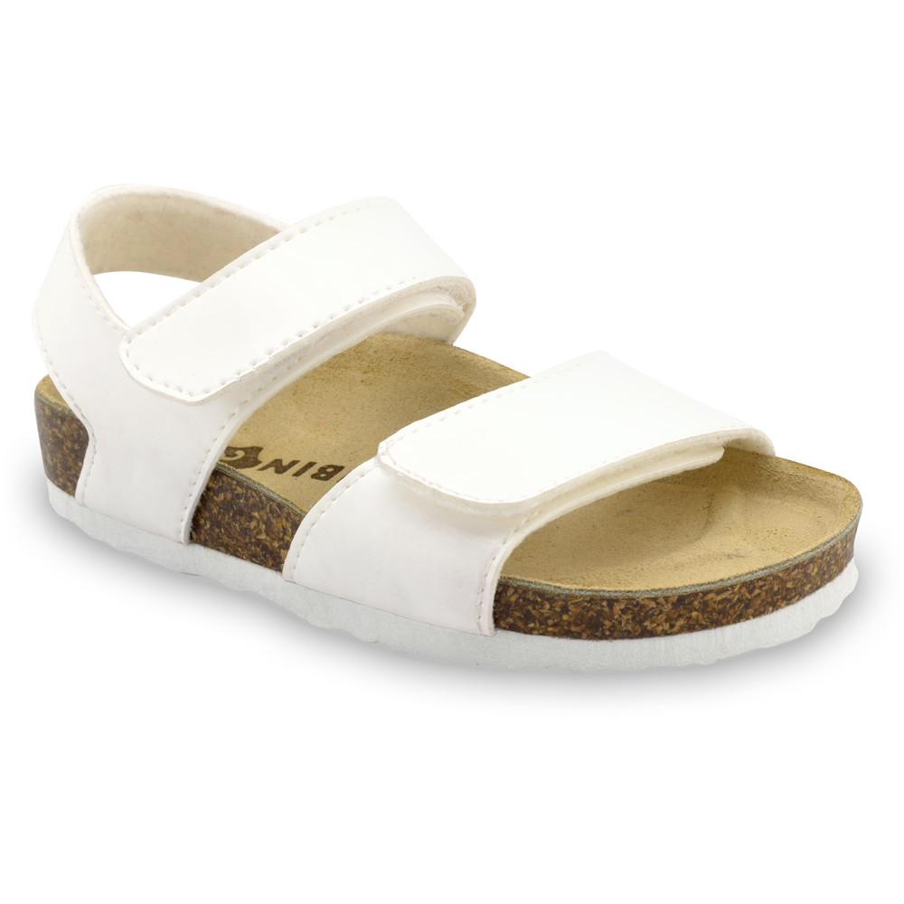 DIONIS sandále pre deti - koženka (23-29) - biela, 28