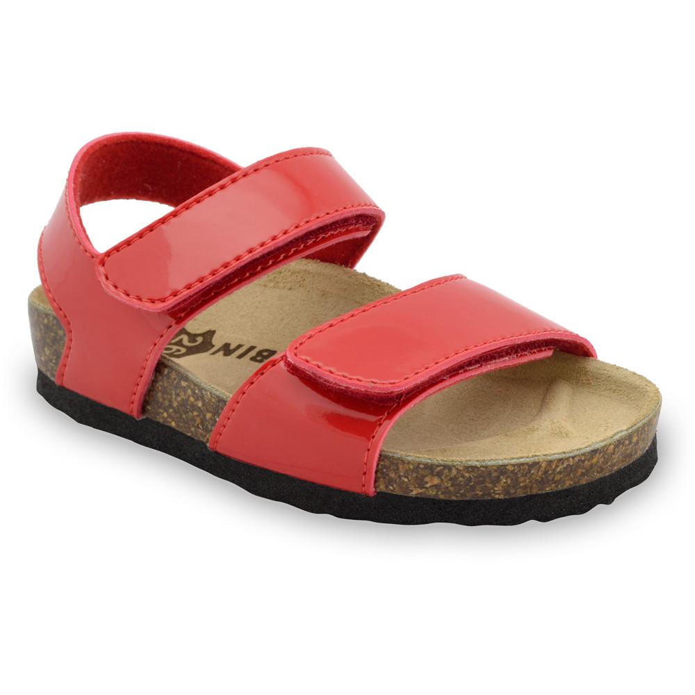 DIONIS sandále pre deti - koženka (23-29) - červená, 24