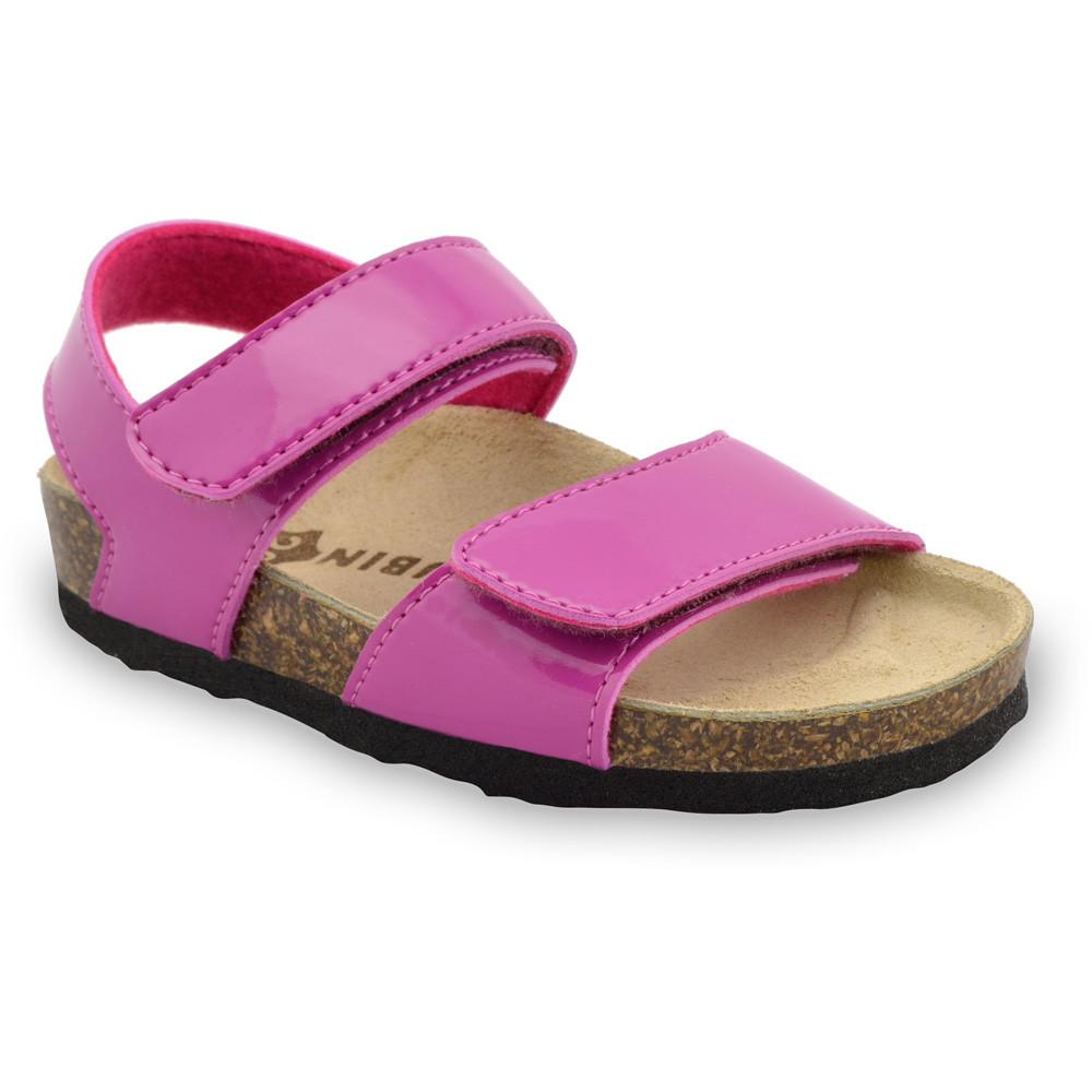DIONIS sandále pre deti - koženka (23-29) - ružová, 28