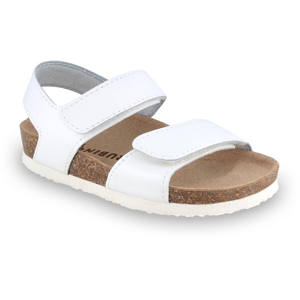 DIONIS sandále pre deti - koža (23-29) - biela, 25