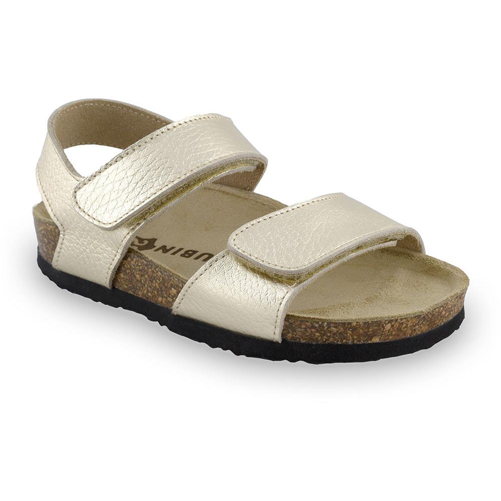 DIONIS sandále pre deti - koža (23-29) - zlatá, 25