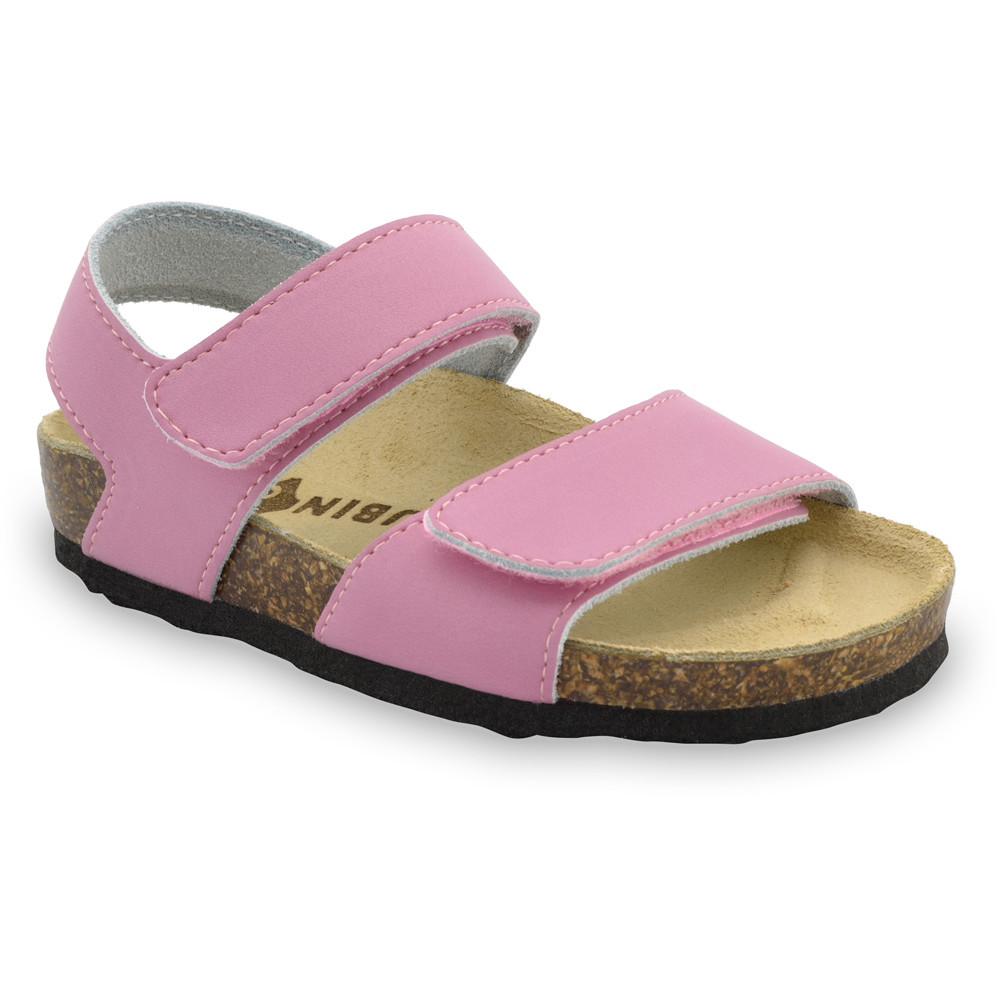 DIONIS sandále pre deti - koža (23-29) - ružová, 27