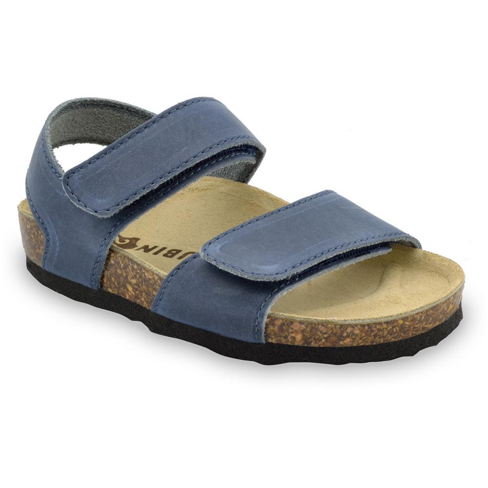 DIONIS sandále pre deti - koža (23-29) - modrá, 27