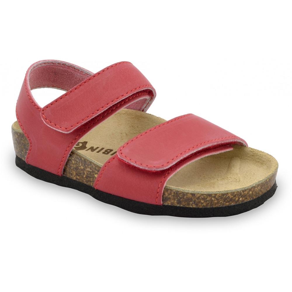 DIONIS sandále pre deti - koža (30-35) - červená, 31