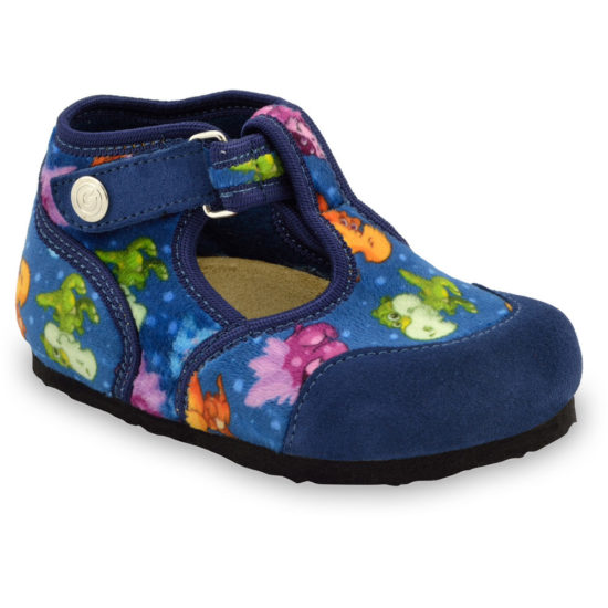 CORONA domáca zimná obuv pre deti - tkanina (23-35)