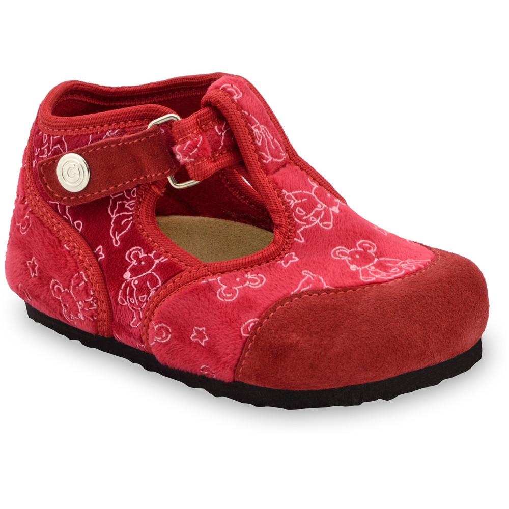 CORONA domáca zimná obuv pre deti - plsť (23-35) - ružová, 29