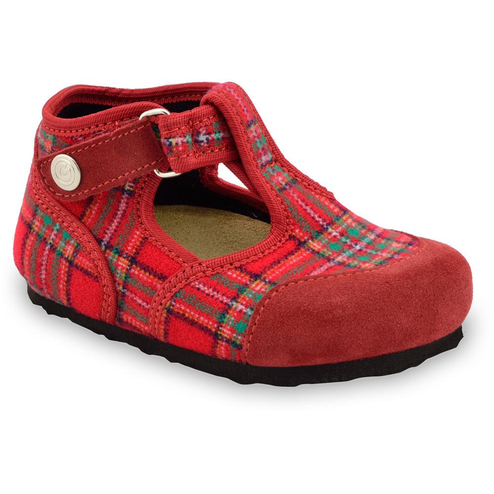 CORONA domáca zimná obuv pre deti - plsť (23-35) - červená, 33