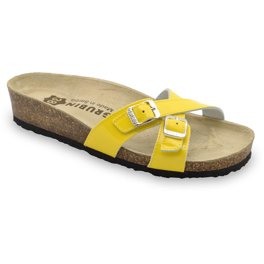 MODENA Kožené dámske papuče (36-42) - žltá, 42