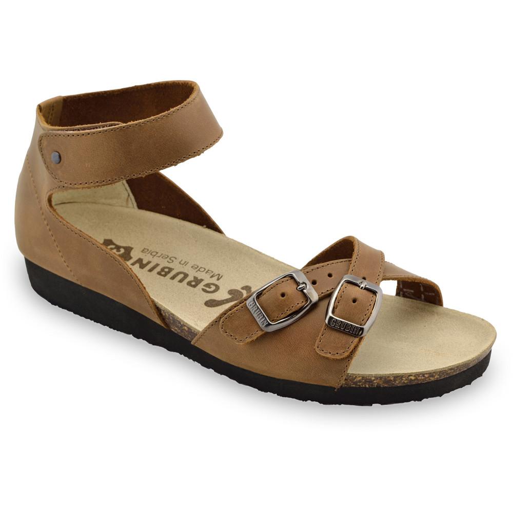 NICOLE sandále pre dámy - koža (36-42) - hnedá, 36