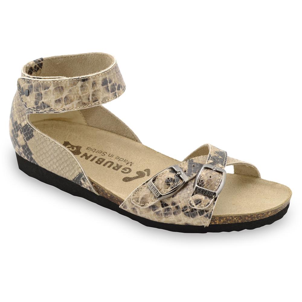 NICOLE sandále pre dámy - koža (36-42) - hnedá so vzorom, 41