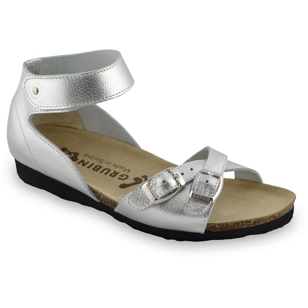NICOLE sandále pre dámy - koža (36-42) - strieborná, 42