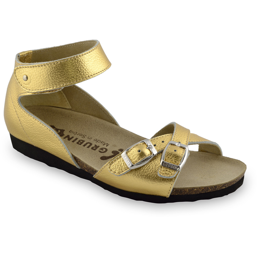 NICOLE sandále pre dámy - koža (36-42) - zlatá, 41