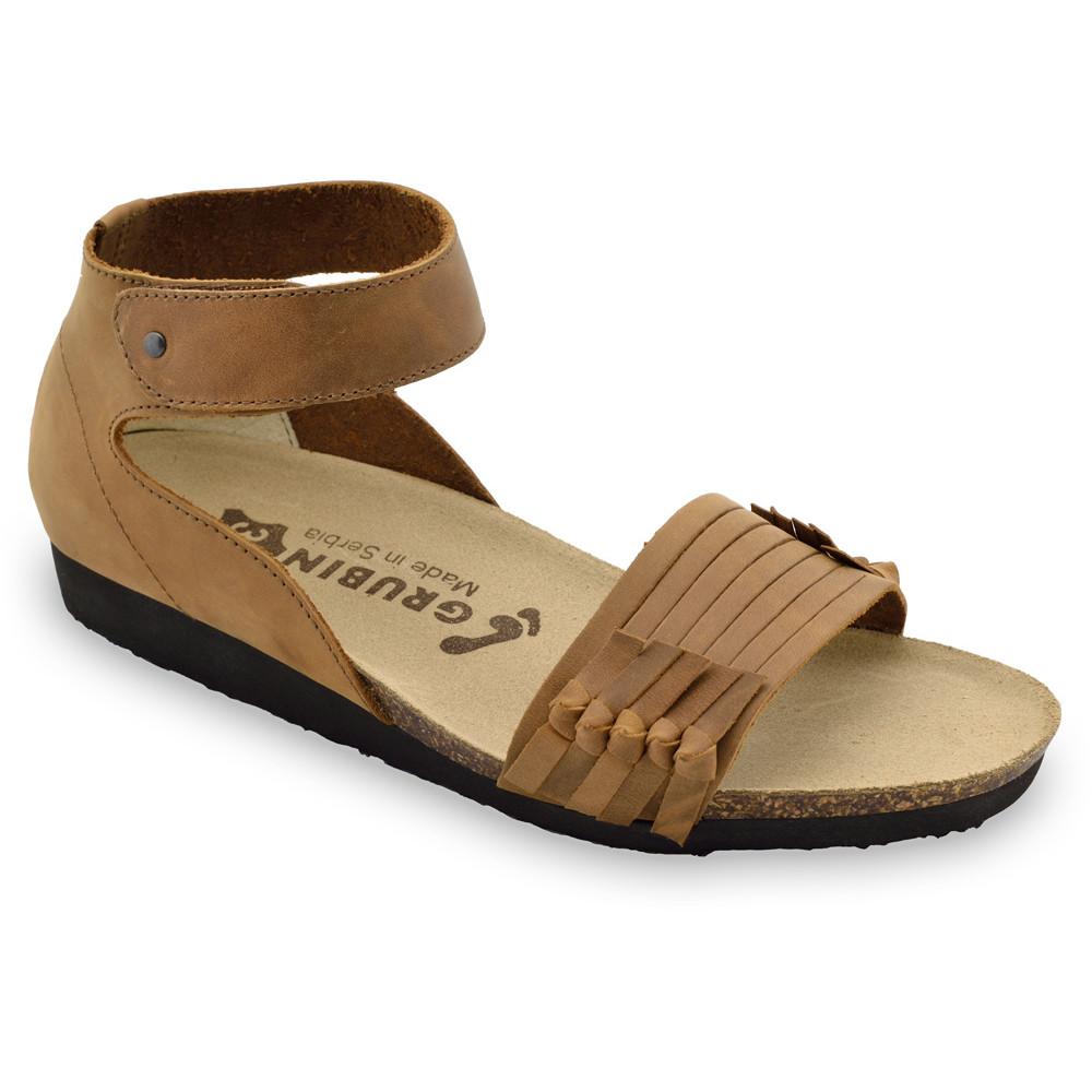 WHITNEY sandále pre dámy - koža (36-42) - hnedá, 39