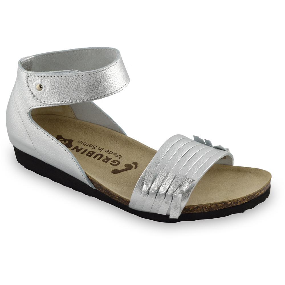 WHITNEY sandále pre dámy - koža (36-42) - strieborná, 41