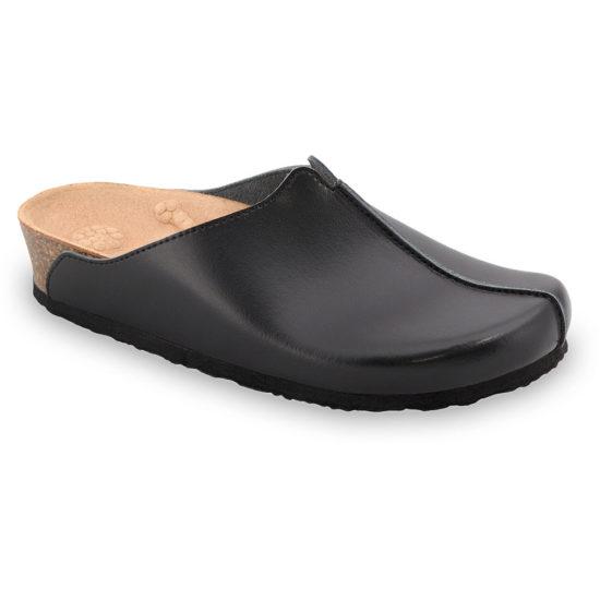 TRISTAN Kožené dámske uzavreté papuče (37-41)