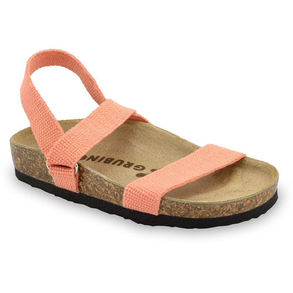 RAMONA sandále pre deti - tkanina (23-29) - oranžová, 24