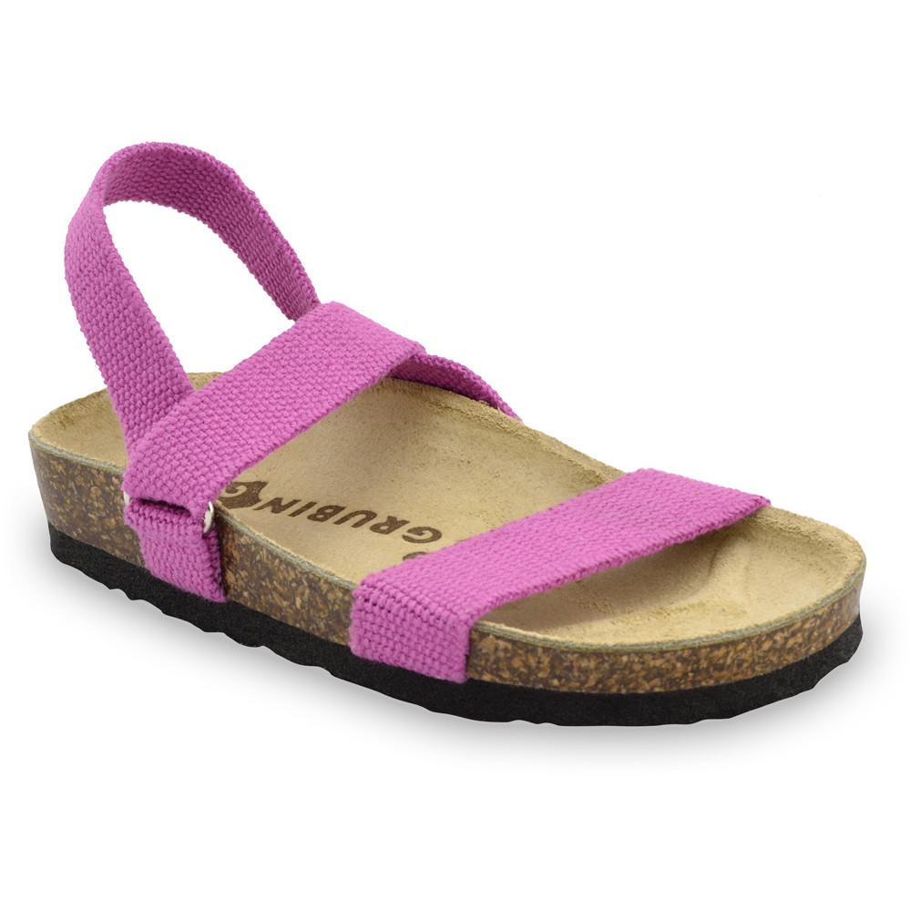 RAMONA sandále pre deti - tkanina (23-29) - ružová, 23