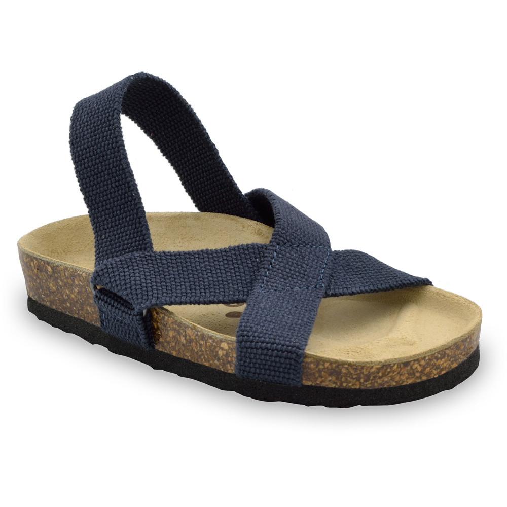 LUI sandále pre deti - tkanina (23-29) - modrá-mat, 23