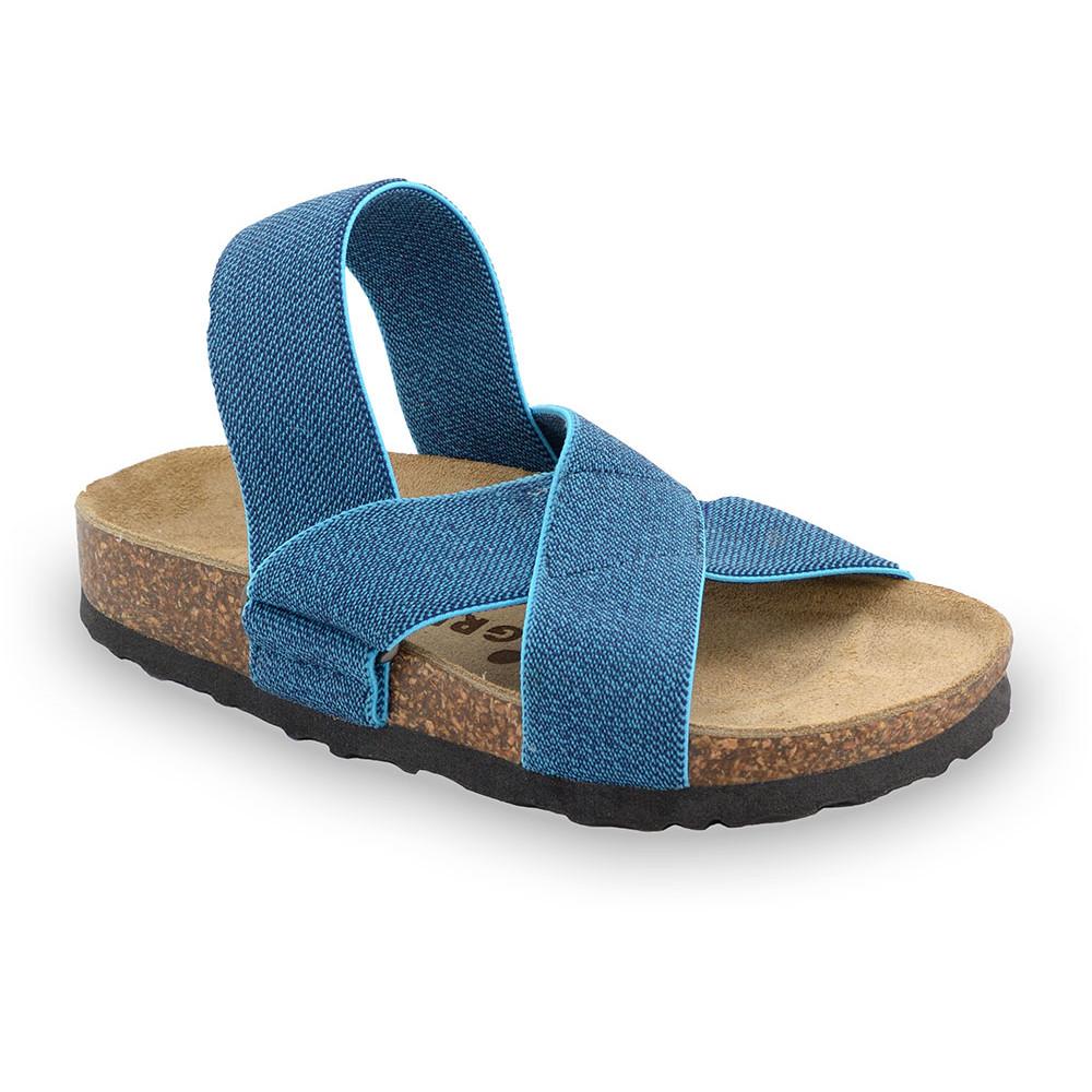LUI sandále pre deti - tkanina (23-29) - modrá, 25