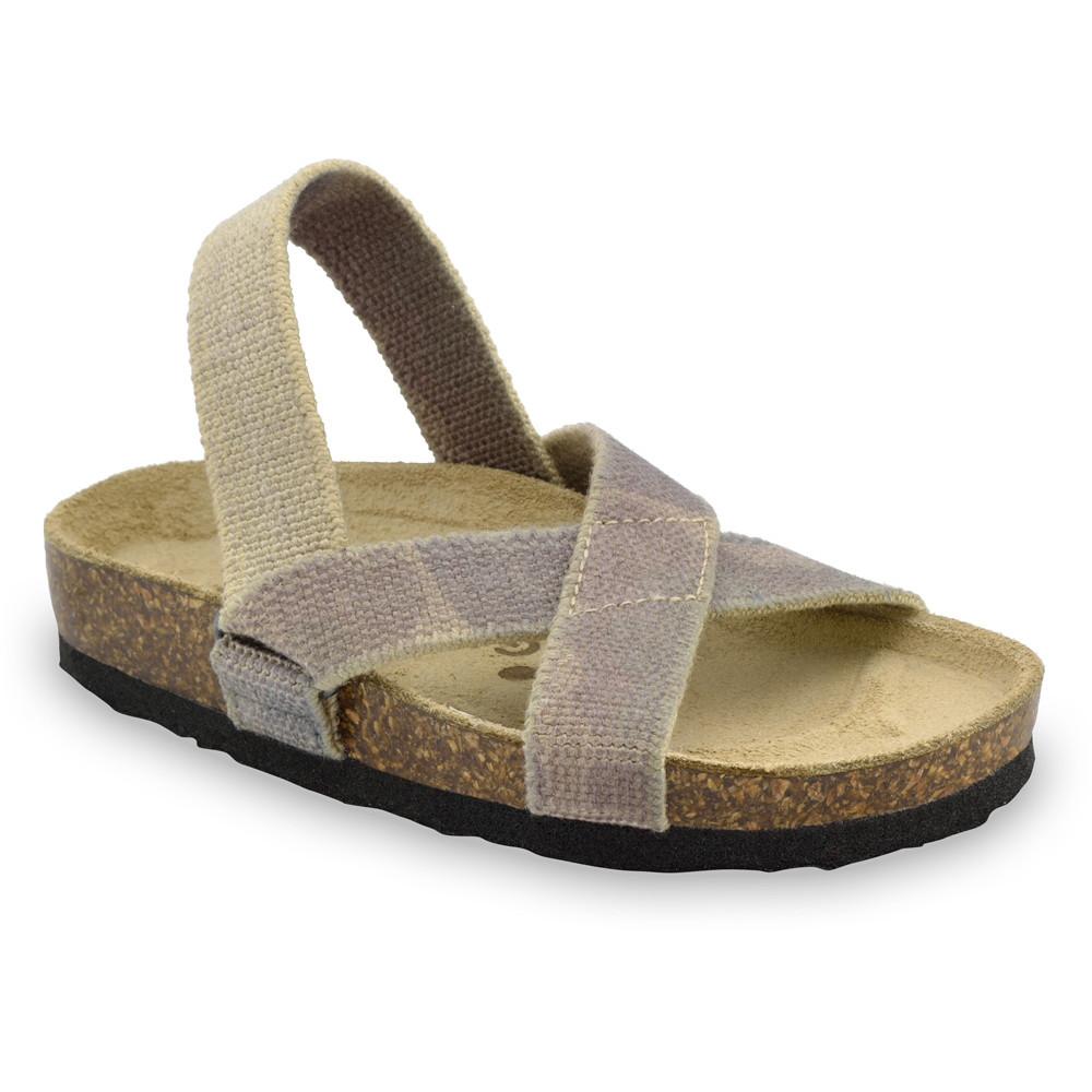 LUI sandále pre deti - tkanina (23-29) - vojenská, 23