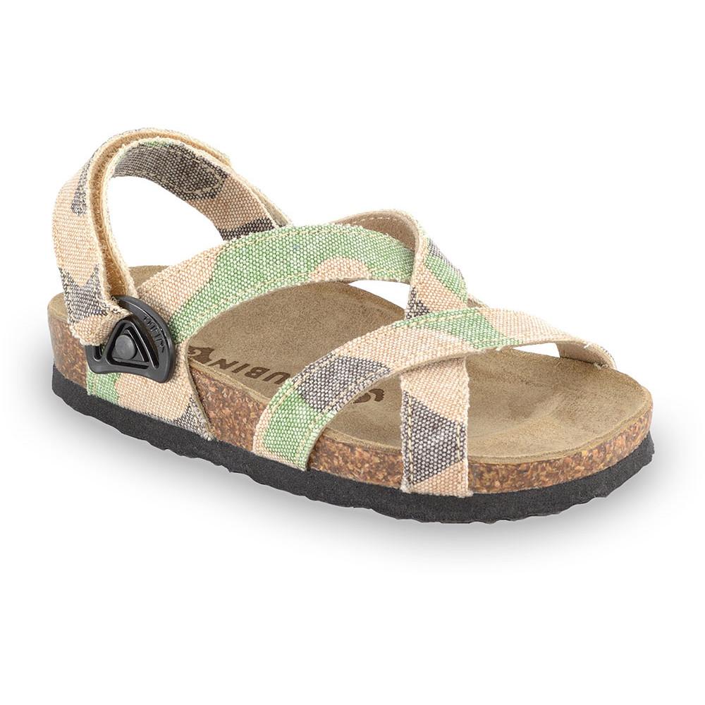 PITAGORA sandále pre deti - tkanina (23-29) - vojenská, 24