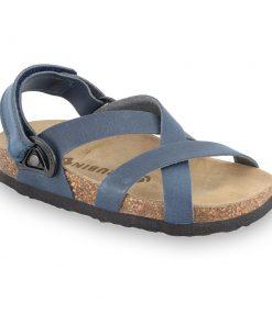 PITAGORA sandále pre deti - koža nubuk-kast (23-29)