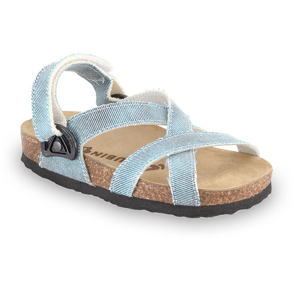PITAGORA sandále pre deti - tkanina (30-35) - modrá, 34