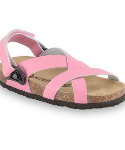PITAGORA sandále pre deti - koža nubuk-kast (30-35)