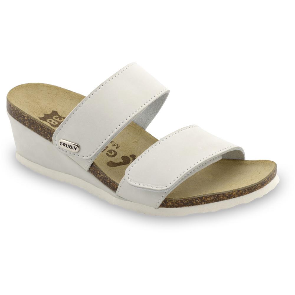 KRISTI Kožené dámske papuče (36-42) - sivá, 38